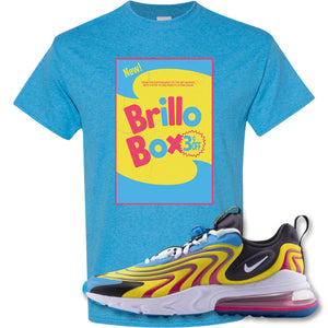 Brillo Box Heather Sapphire T-Shirt to match Air Max 270 React ENG Laser Blue Sneakers
