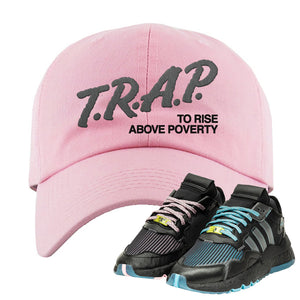 Ninja x adidas Nite Jogger Dad Hat | Trap To Rise Above Poverty, Pink