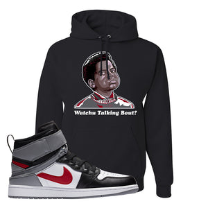 Air Jordan 1 Flyease Hoodie | Black, Wachu Talking Bout