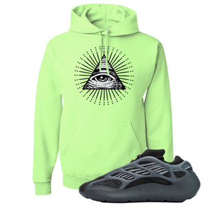 Yeezy 700 V3 Alvah Hoodie | Neon Green, All Seeing Eye