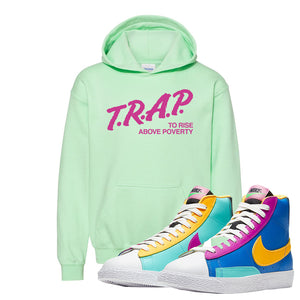 Blazer Mid Big Kids Hoodie | Mint Green, Trap To Rise Above Poverty
