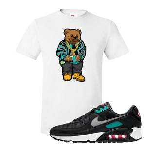 Air Max 90 Black New Green T Shirt | Sweater Bear, White