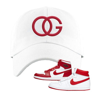 Jordan 1 New Beginnings Pack Sneaker White Dad Hat | Hat to match Nike Air Jordan 1 New Beginnings Pack Shoes | OG