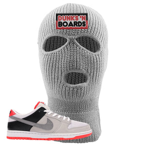 Nike SB Dunk Low Infrared Orange Label Dunks N Boards Light Gray Ski Mask To Match Sneakers