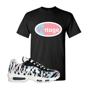 Air Max 95 Korea Tiger Stripe T Shirt | Black, Vintage Oval