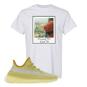 Yeezy Boost 350 V2 Marsh Missing The Old Ye Ash T-Shirt To Match Sneakers