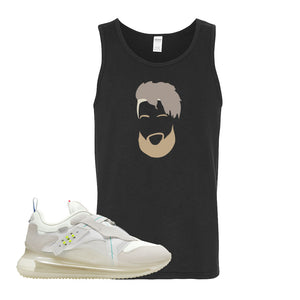 Air Max 720 OBJ Slip White Tank Top | Black, OBJ Head