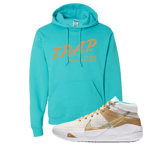KD 13 EYBL Hoodie | Trap To Rise Above Poverty, Scuba Blue