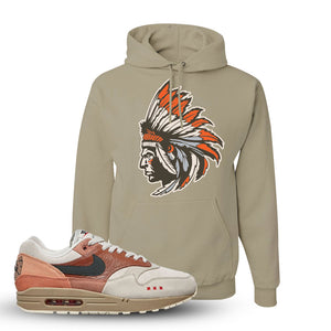 Air Max 1 Amsterdam City Pack Sneaker Khaki Pullover Hoodie | Hoodie to match Nike Air Max 1 Amsterdam City Pack Shoes | Indian Chief