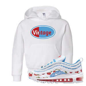 Air Max 97 GS SE Cherry Kids Pullover Hoodie | Vintage Oval, White