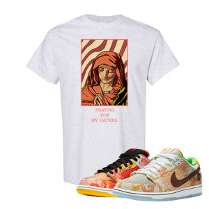 SB Dunk Low Street Hawker T Shirt | God Told Me, Ash