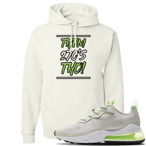 Air Max 270 React Ghost Green Sneaker White Pullover Hoodie | Hoodie to match Nike Air Max 270 React Ghost Green Shoes | Them 270 Tho