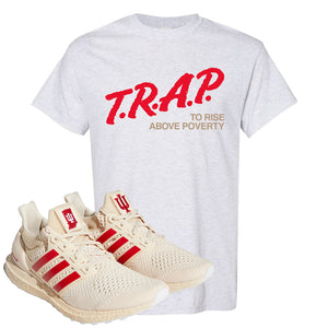 Adidas Ultra Boost 1.0 Indiana T-Shirt | Trap To Rise Above Poverty, Ash