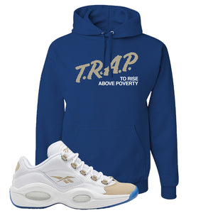 Reebok Question Low Oatmeal Hoodie | Royal Blue, Trap To Rise Above Poverty