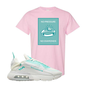 Air Max 2090 Pristine Green T Shirt | Light Pink, No Pressure No Diamond