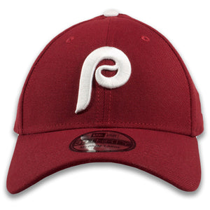 Philadelphia Phillies 1970s Cooperstown Vintage Cardinal Red New Era 39Thirty Flexfit Cap