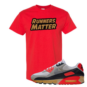 Air Max 90 Infrared T Shirt | Runners Matter, Red