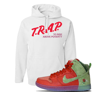 SB Dunk High 'Strawberry Cough' Hoodie | White, Trap To Rise Above Poverty