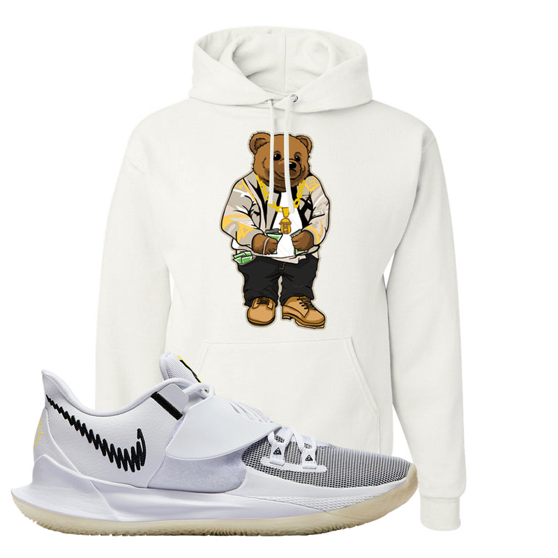 Kyrie Low 3 Hoodie | White, Sweater Bear