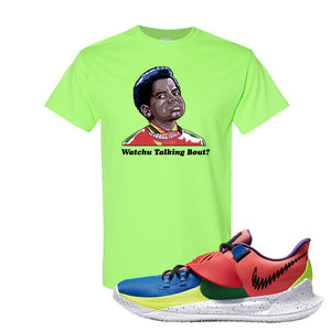 Kyrie Low 3 NY vs NY T Shirt | Watchu Talking Bout, Neon Green