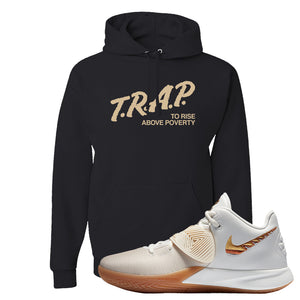 Kyrie Flytrap 3 Summit White Hoodie | Trap To Rise Above Poverty, Black