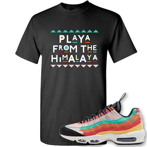 Air Max 95 Black History Month Sneaker Black T Shirt | Tees to match Nike Air Max 95 Black History Month Shoes | Playa From The Himalaya