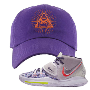 Kyrie 6 Asia Irving Dad Hat | All Seeing Eye, Purple