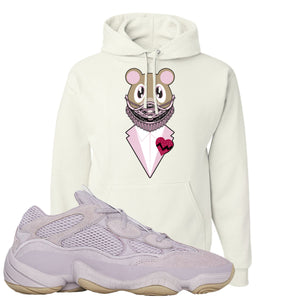 Yeezy 500 Soft Vision Bear Sneaker Mask White Sneaker Hook Up Pullover Hoodie