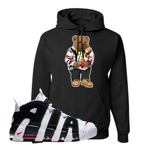 Air More Uptempo White Black Red Hoodie | Black, Sweater Bear