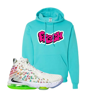 Lebron 17 Air Command Force Hoodie | Scuba Blue, Fresh