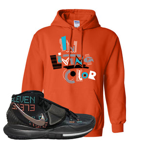 Kyrie 6 Eleven Hoodie | Orange, In Living Color