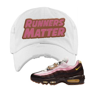 Air Max 95 Cuban Links Distressed Dad Hat | White, Runners Matter