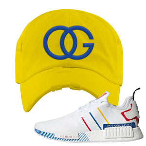 NMD R1 Olympic Pack Distressed Dad Hat | Yellow, OG