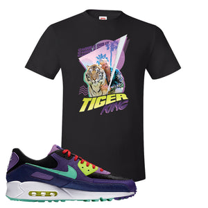 Air Max 90 Cheetah T Shirt | Retro Tiger King, Black