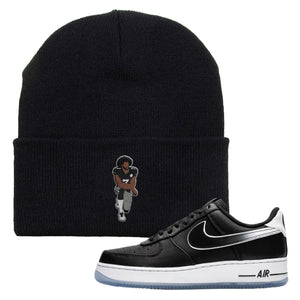 Colin Kaepernick X Air Force 1 Low Kaepernick Fist Kneeling Black Sneaker Hook Up Beanie