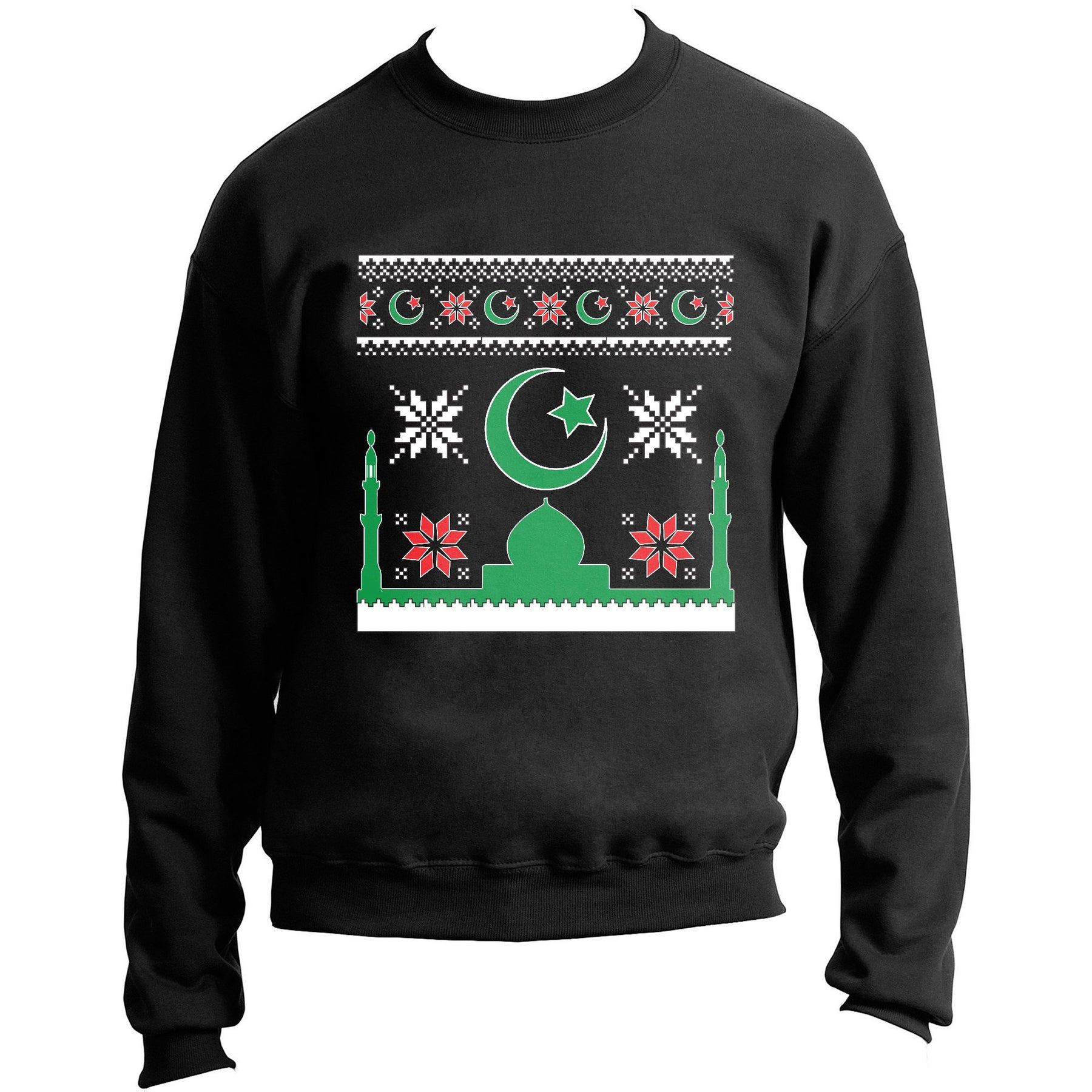 best sneakers 96a88 48272 Merry Muslims Crescent Moon Mosque Ugly Holiday Sweater