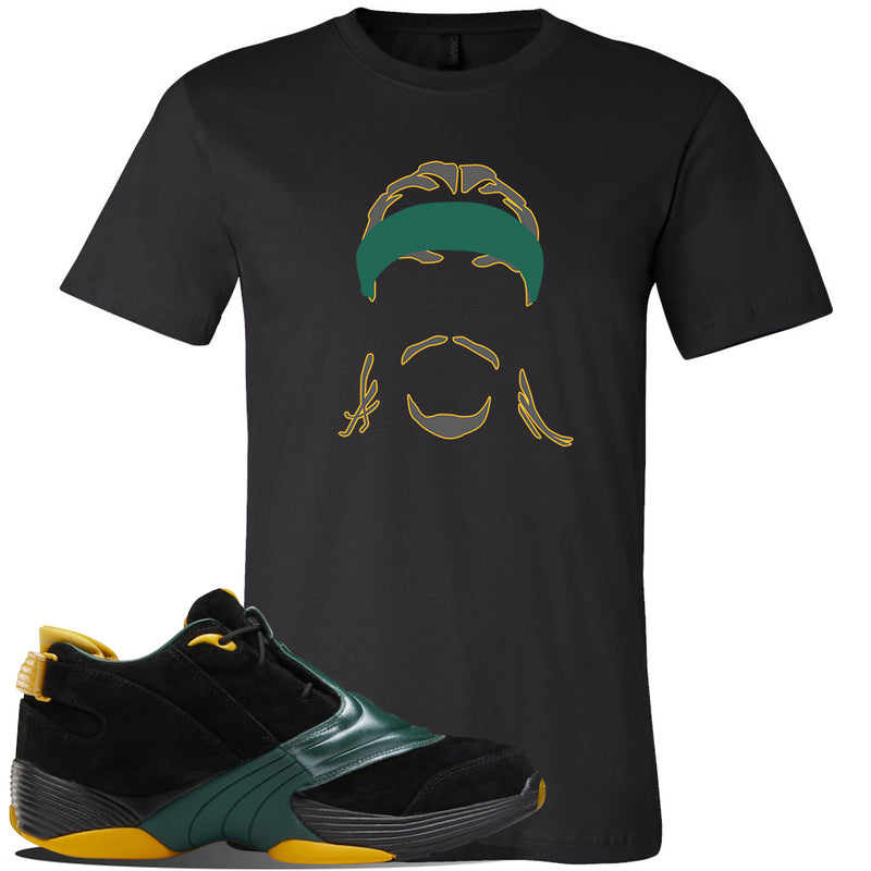 Answer 5 Bethel High Sneaker Black T Shirt | Tees to match Reebok Answer 5 Bethel High Shoes | Headband Cornrows