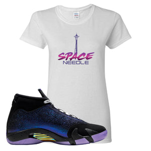 Jordan 14 Doernbecher Space Needle White Sneaker Hook Up Women's T-Shirt