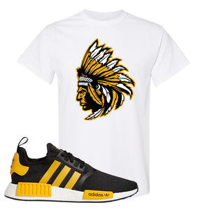 NMD R1 Active Gold T Shirt | White, Indian Chief