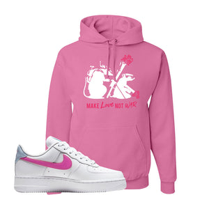 Air Force 1 Low Fire Pink Hoodie | Azalea, Army Rats