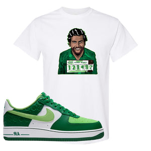 Air Force 1 Low St. Patrick's Day 2021 T Shirt | Escobar Illustration, White
