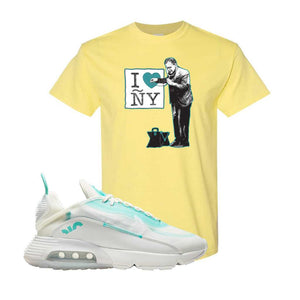 Air Max 2090 Pristine Green T Shirt | Cornsilk, I Heart New York Doctor