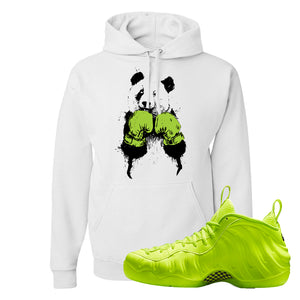 Air Foamposite Pro Volt Hoodie | Boxing Panda, White