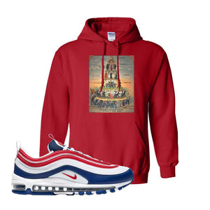 Air Max 97 USA Hoodie | Red, Capitalism Pyramid