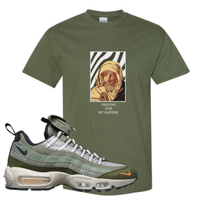 Air Max 95 Surplus Supply T Shirt | God Told Me, Military Green
