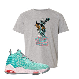 Lebron 17 South Beach Kids T-Shirt | Dont Hate the Playa, Sport Grey