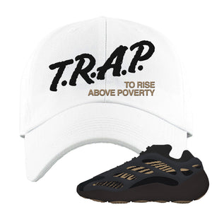 Yeezy 700 v3 Eremial Dad Hat | Trap To Rise Above Poverty, White