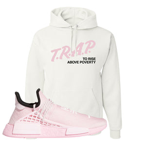 NMD Hu Tonal Pink Hoodie | Trap To Rise Above Poverty, White