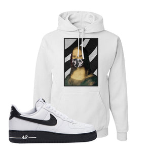 Air Force 1 Low White Black Hoodie | White, Mona Lisa Mask
