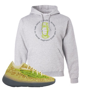 Yeezy Boost 380 Hylte Glow Hoodie | Cash Rules Everything Around Me, Ash